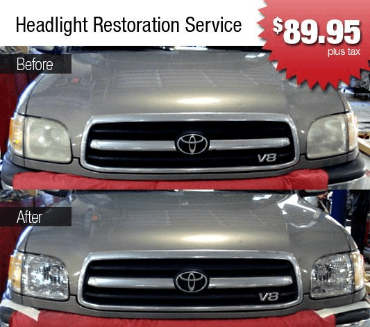Headlight Restoration In Houston, TX At Sterling McCall